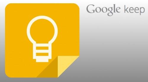 谷歌正式发布云笔记服务Google Keep